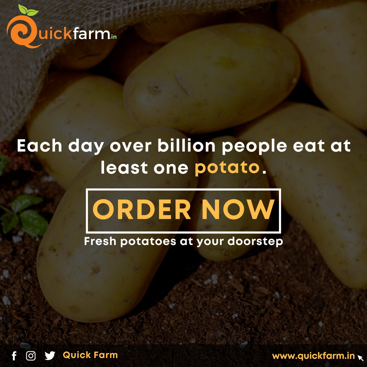 "Use Coupon code:-""FIRST10"" For flat 10% off on your first order Order fresh & organic potatoes now!! #nutrients #chinesefood #foodgasm #healthylifestyle #organicfood #organic #WhatsApp #freshveggies #pune #punefoodblogger #coronavirus #vocalforlocal #startups #punestartuppic.twitter.com/I1BPog3omC"
