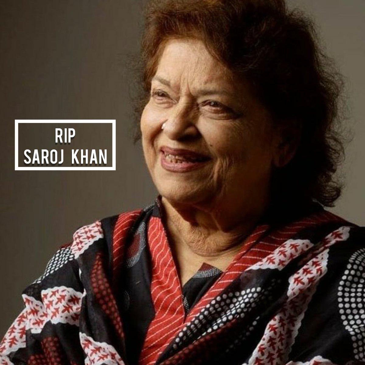 Another legend leaves us🙏 #SarojKhan https://t.co/KwpENUY0Lp