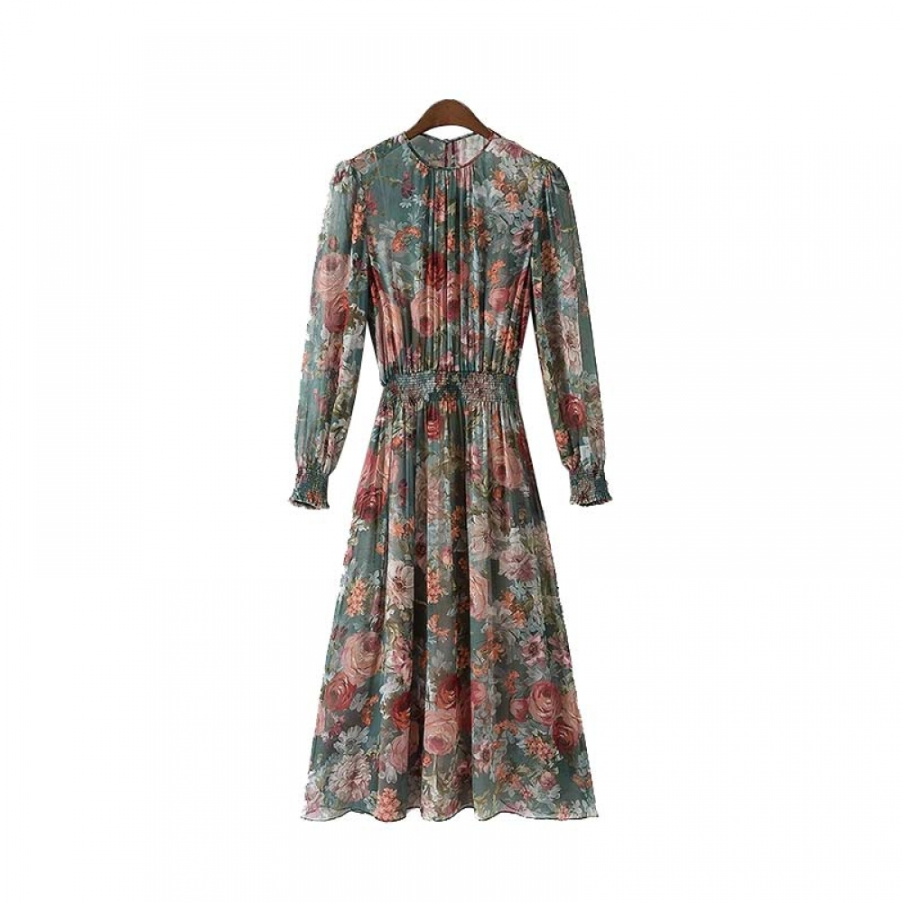 #jacket #pants Women's Floral Printed Lantern Sleeved Chiffon Dress pic.twitter.com/wfEOAcNTvF