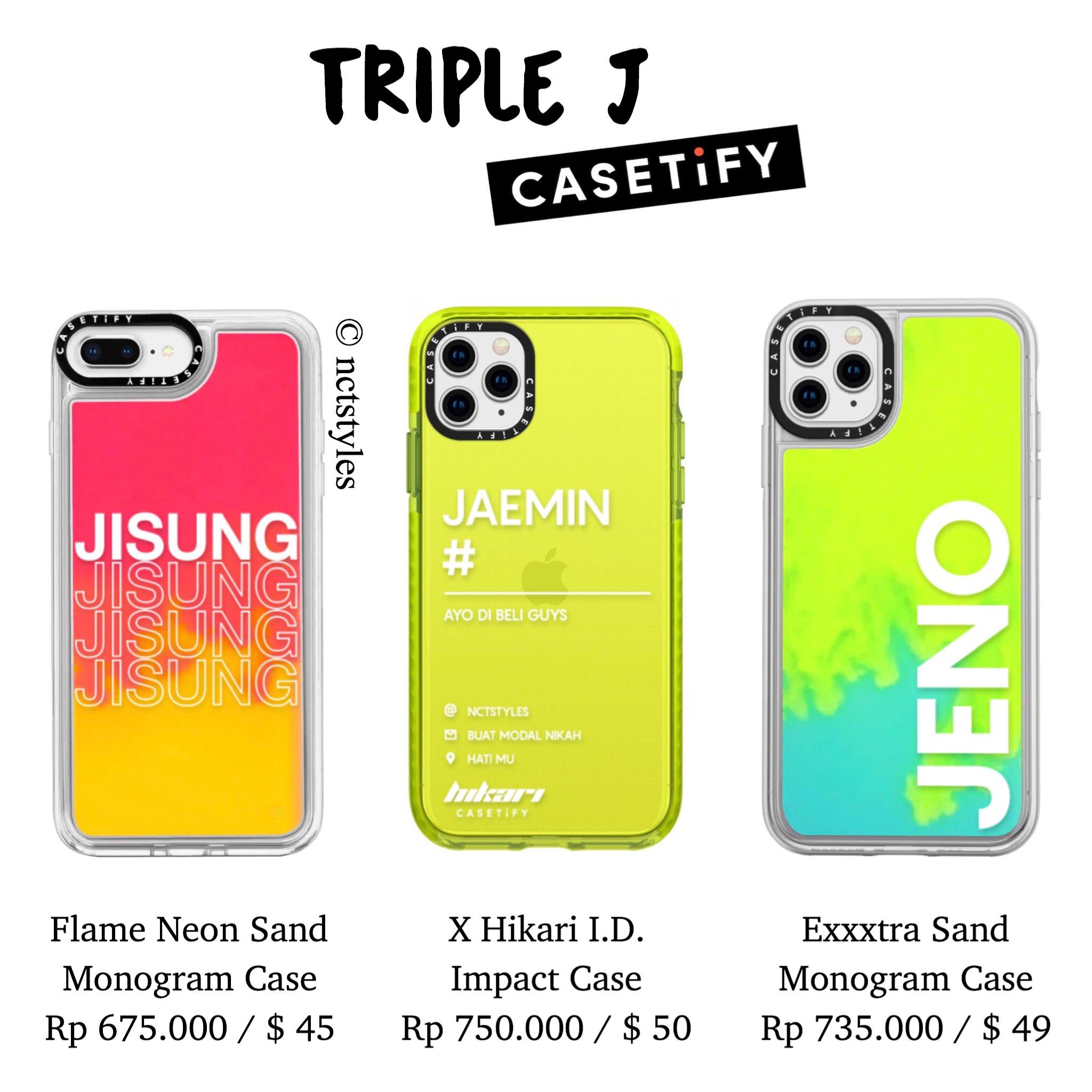 Nct Fashion Styles On Twitter Triple J X Casetify Jisung Jaemin Jeno
