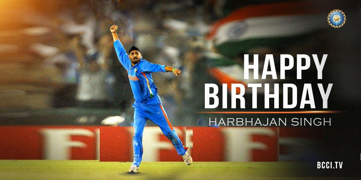 Here's wishing 'The Turbanator' @harbhajan_singh a very happy birthday   #TeamIndia <br>http://pic.twitter.com/pMTmeKIlJX