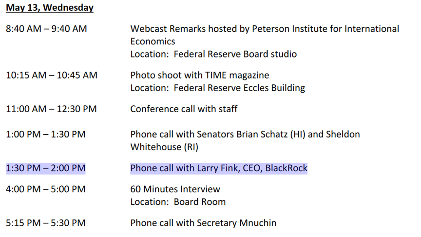 Federal Reserve Chair Jerome Powell also had a photo shoot with @Time, an interview with @60Minutes and a phone call with Larry Fink, CEO of @Blackrock, all in the same day https://t.co/K1RcPeY1sP