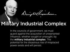 Eisenhower warned us, but we didn't listen. https://t.co/6jLboyx9I7
