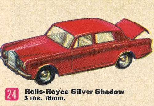 Classic #Matchbox time...1968 USA #24 Rolls-Royce Silver Shadow pic.twitter.com/nP4gFPYplu  by Classic Matchbox