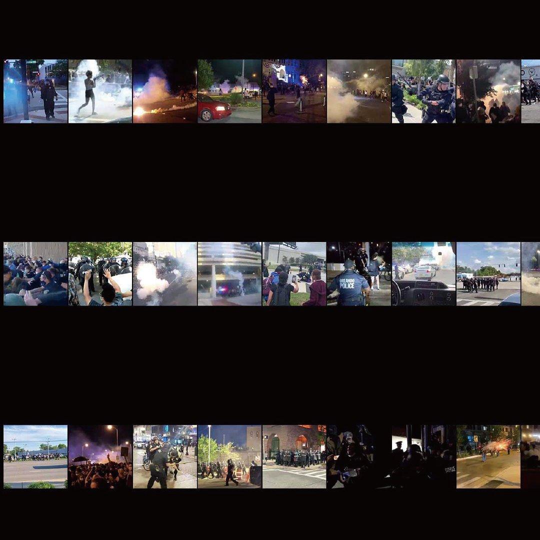우리는 2020년 5월 26일부터 6월 5일 사이에 벌어진 125개의 경찰 폭력 사건을 조사, 기록했습니다. 많은 경우에서 경찰들은 폭력을 행하는 개인과 평화 시위 참여자를 구분하지 않고 모두를 향해 무차별적인 폭력을 행사했습니다.   📍각 사례의 영상 확인하기: https://t.co/U3w7NnHMib https://t.co/C9bUIkDl0i
