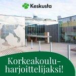 Image for the Tweet beginning: Hae korkeakouluharjoitteluun #keskusta'n puoluetoimistolle🍀 Harjoittelu sijoittuu