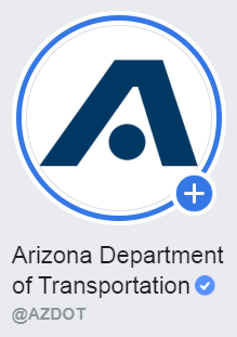 Image posted in Tweet made by Arizona DOT on July 3, 2020, 8:00 am UTC