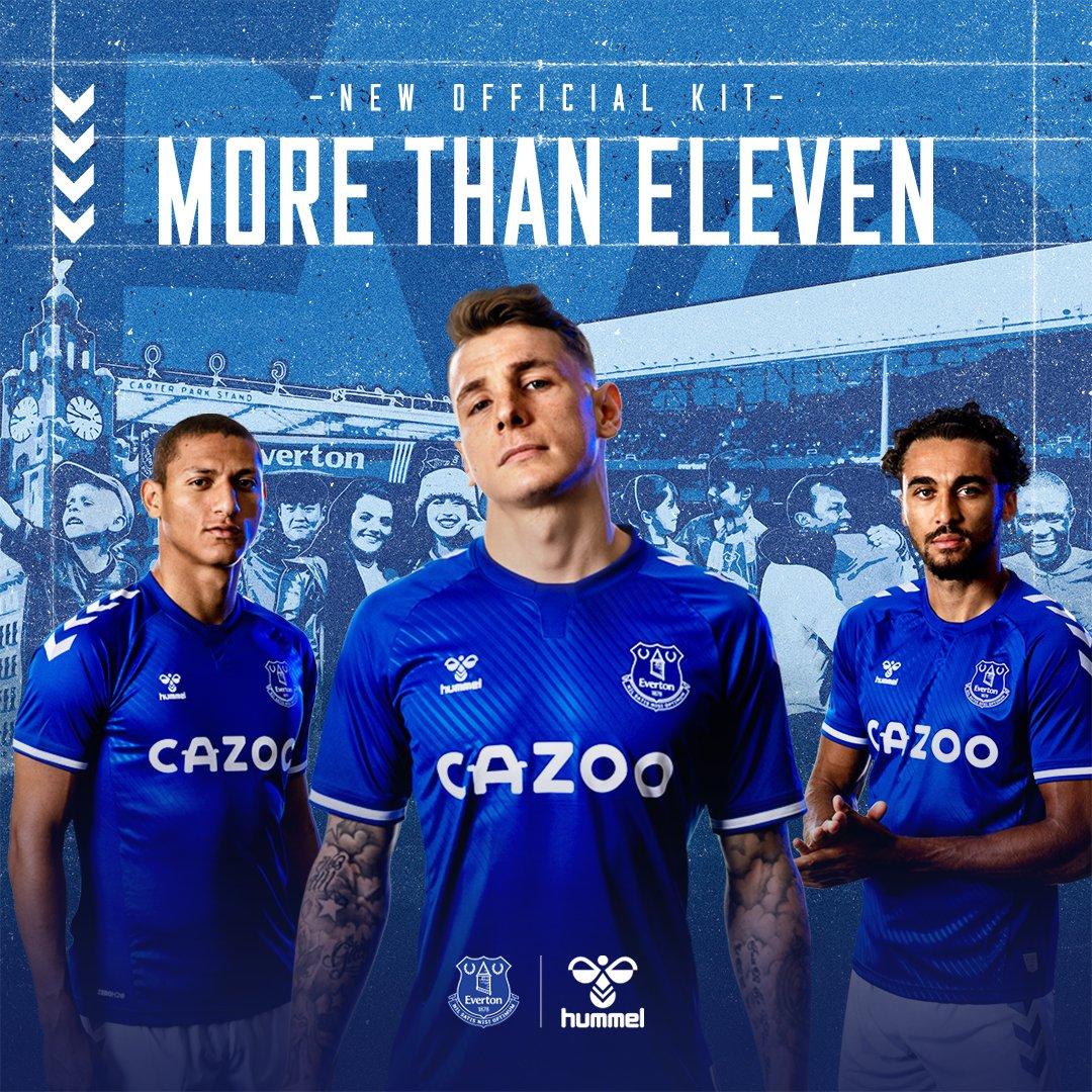 The wait is finally over – introducing the 2020/21 @Everton home kit. Let's make new memories 💙👊   #ShareTheGame #hummelsport #EFC #MoreThanEleven https://t.co/vHOy100ivG