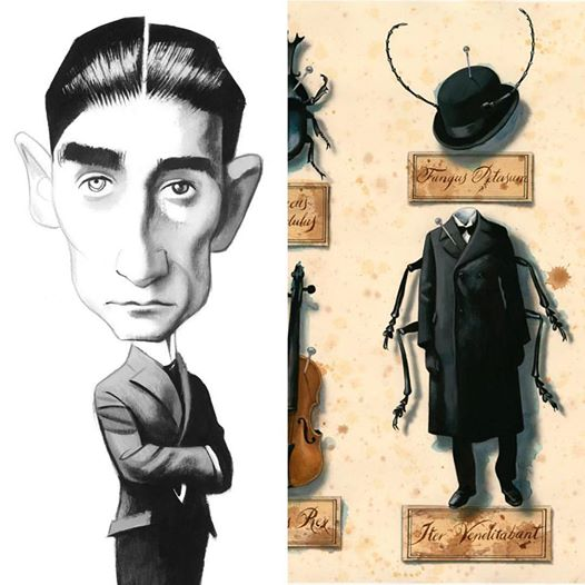 #TalDíaComoHoy en 1883 nacía #FranzKafka, cuya corta obra dejó un profundo poso en toda la literatura del siglo XX. #FGSR #literatura #lectura #bibliotecas #librerías #FelizFinde Il. de @FVicente_Illust #LaMetamorfosis Libros en @CanalLector de Franz Kafka https://t.co/yxOUSSZOjq https://t.co/npm4qSqTmX