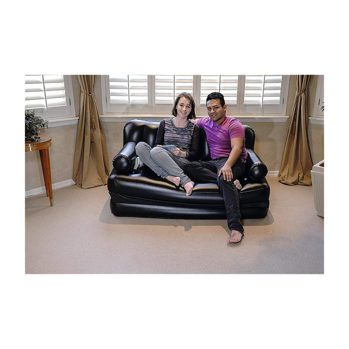 #InflatableBedsPillowsAccessoriesDeal #HomeFurnishingDeal   See amazing 'Sisliya 5 in 1 Inflatable Sofa Air Bed Couch with Electric Pump(Air sofa bed)' for just ₹2499!!!  Buy here: