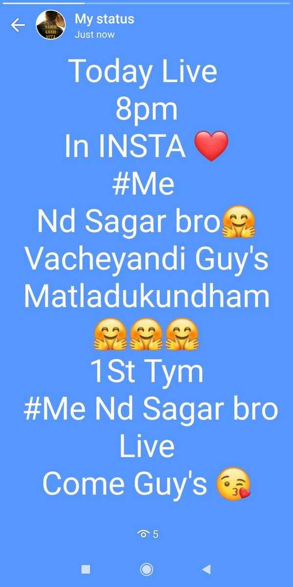 1st Tym Live istunnam #Me Nd  Sagar bro today 8pm in INSTA  @urstrulyMahesh  #SarkaruVaariPaata  #10MillionMAHESHIANSpic.twitter.com/613KYMCtNi