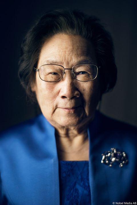 Tu Youyou discovered a substance called artemisinin, which can be used to treat malaria. Tu not only found a way to extract artemisinin from a traditional Chinese medicine, she also tested the new drug on herself to speed up development time. #NobelPrize