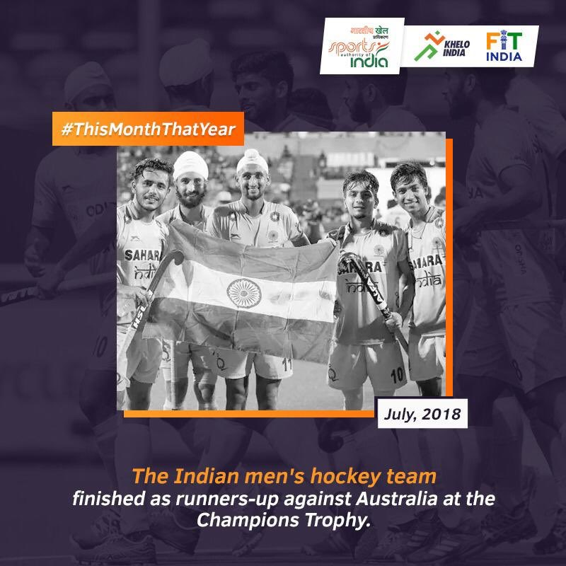 On this day in 2018, for the 2nd successive time, Indian mens hockey team equalled their best performance after winning silver after a tough fight against Australia at the Champions Trophy final. Want to share your story from 1st July? Tell us using #ThisMonthThatYear.