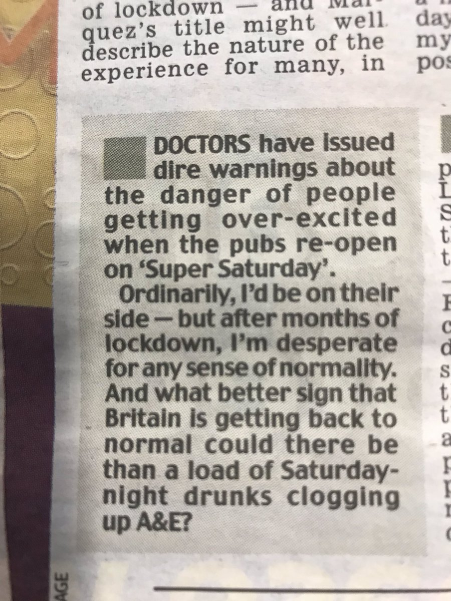 Sarah Vine here, showing NHS workers just how highly she values them.