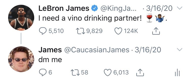 @KingJames offer is still on the table 🍷