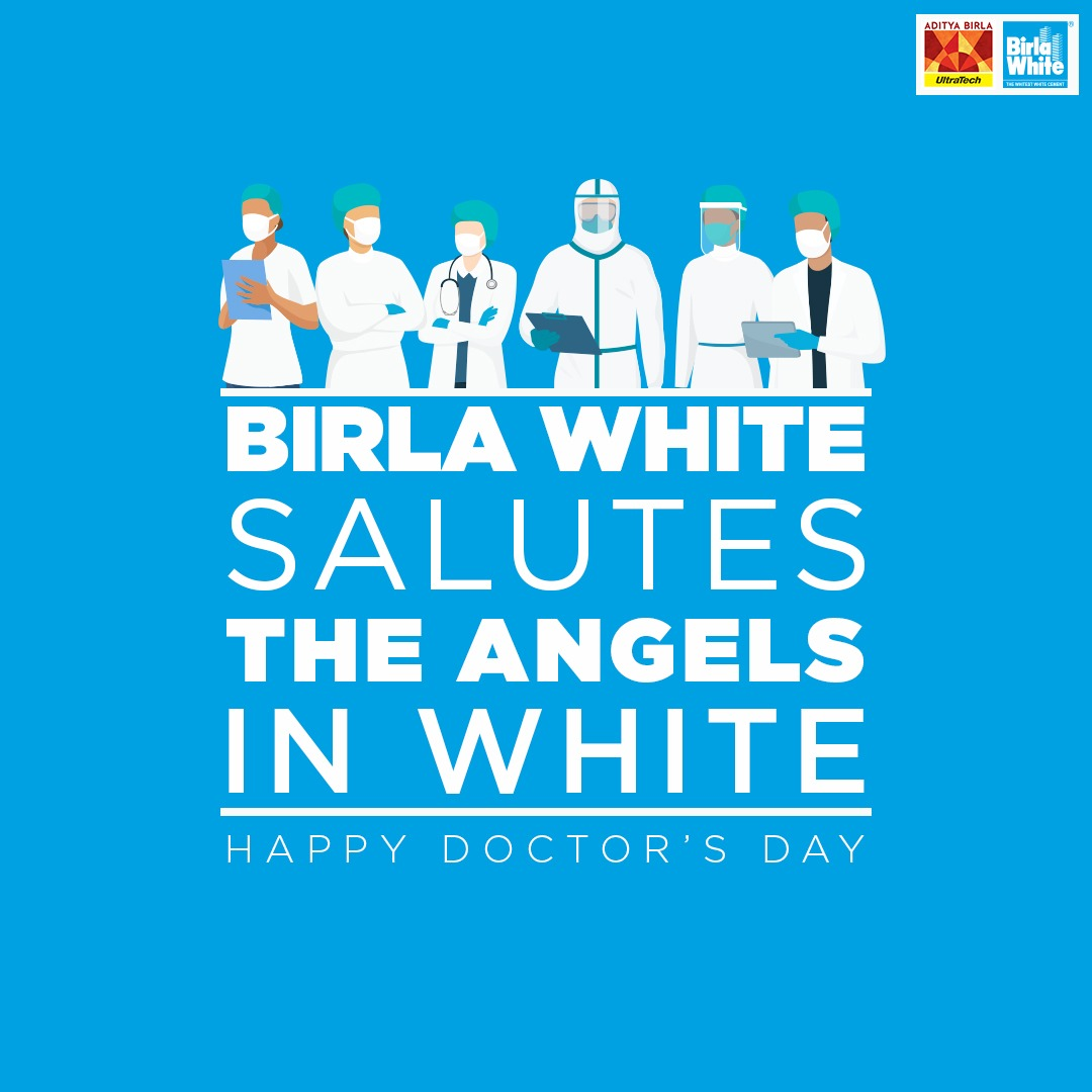 Dear Angels In White, Thank You for your unwavering support in helping and protecting us during these difficult times.  Wishing you all a very #HappyDoctorsDay  #BirlaWhite #WallCarePutty #Doctorsday2020 #ThankYouDoctors #Doctors #Nurses2020 <br>http://pic.twitter.com/VterYFN3Yd