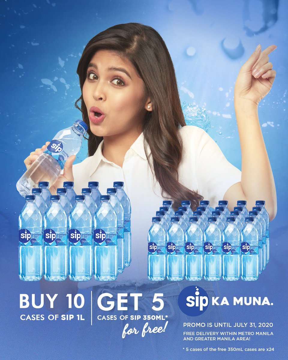 Due to popular demand, we will be extending our 10+5 (buy 10 cases of 1L and get 350 ml x 24 for free) promo until the end of July to support your hydration needs! Please PM us for price* inquiries and orders. #SipKaMuna https://t.co/Wx3Rql4nu4