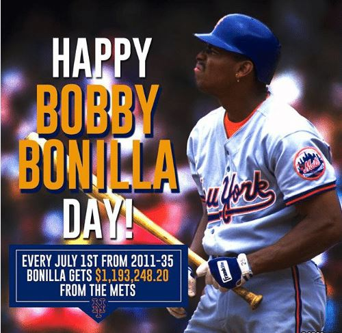 Happy Bobby Bonilla Day! Cheers to the legend. 🍻
