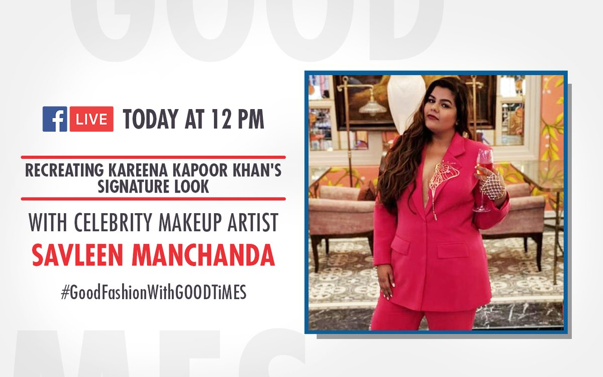 #LIVE session with #Celebrity #Makeup Artist #SavleenManchanda - 12 PM #GoodFashionWithGOODTiMES @rohitroy500's #LockdownConfessions with @pujat_GOODTIMES - PM #GoodVibesWithGOODTiMES #DoctorsDay Special with Dr KK Aggarwal - 6 PM #GoodHealthWithGOODTiMES