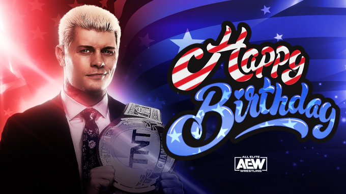 Happy Birthday too you Sir Cody Rhodes