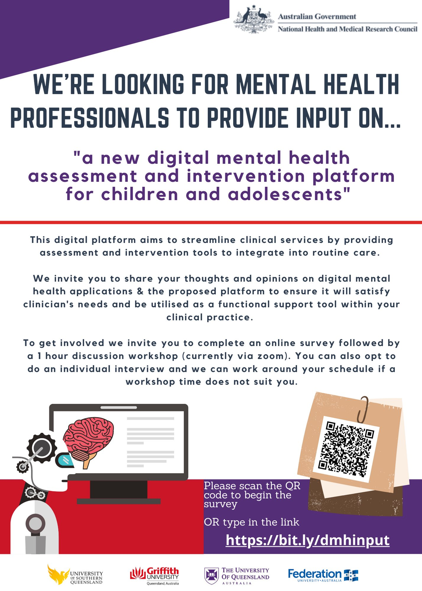 Stuart Biddle On Twitter We Re Looking For Mental Health Professionals To Provide Input On A New Digital Mental Health Assessment And Intervention Platform For Children And Adolescents Https T Co X26jrswscd Https T Co D3ssn7qk2e