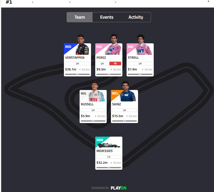 Wenn ihr viele Punkte holen wollt, dann solltet ihr mein Team nachbauen! #F1Fantasy Hier ist unsere offizielle PietSmiet League: 7ebca223eb https://t.co/LamQ8t0FZp
