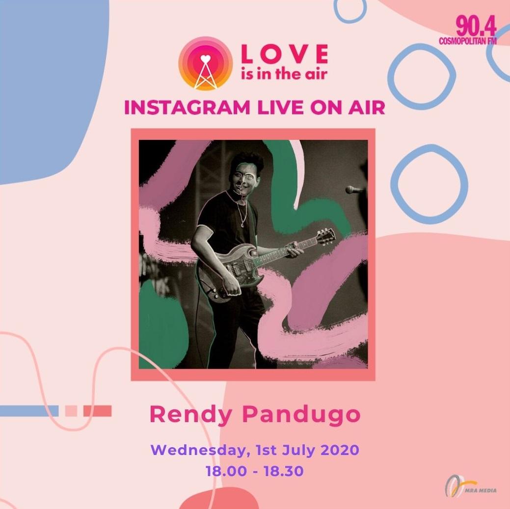 Dengar dan saksikan Instagram Live On Air - Love Is In The Air bersama @rendypandugo di Happy Hour hari ini, pukul 18.00 - 18.30 dengan @jillvandiest dan @irwanardian hanya di Cosmopolitan FM! #SahabatPerempuan #TetapMRApat #KembaliKeStudio #RadioLawanCovid19 https://t.co/bKrfBkr0eZ