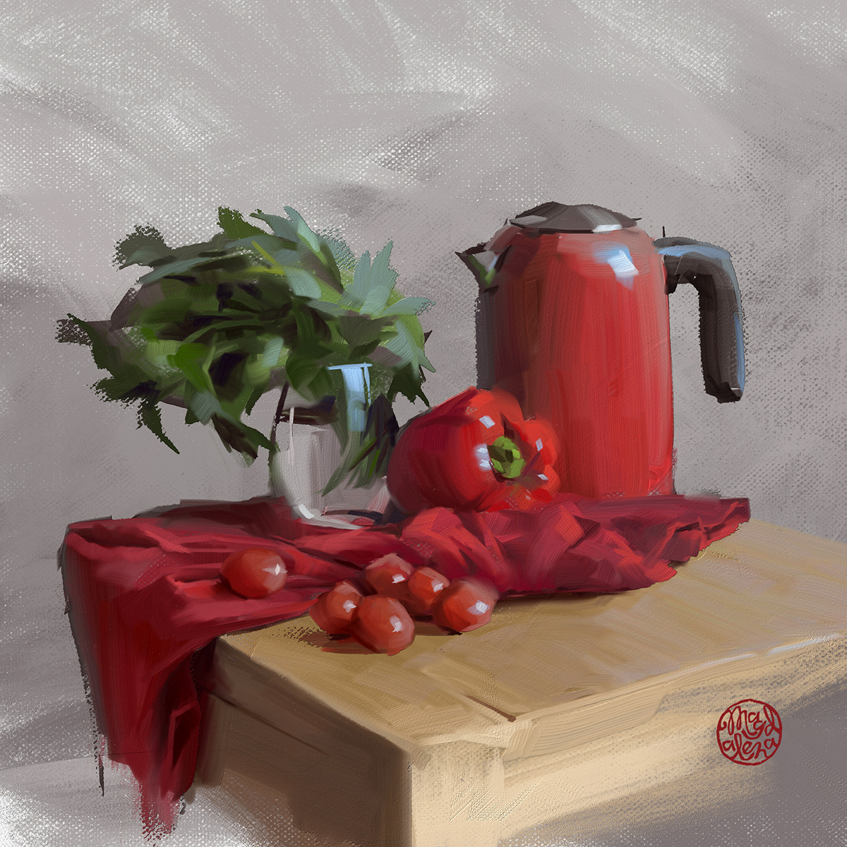 Experimenting with Thick paints in new Corel Painter 2021<3 #digitalpainting #art #artsy #painting #digitalart #corelpainter  #hypnotizing_arts #artwork #artist2d #2dartist #wacom #oils #oilpainting #stilllife #red #thickpaintpic.twitter.com/78aTaMJf5h