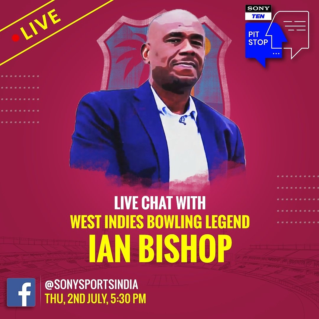 Ian Bishop will be on the receiving end of some quick-paced questions on #SonyTenPitStop    Catch him LIVE   THU, 2nd July  5.30 PM  @SonySportsIndia FB page  #PitStop #SonySports #FBLive #CricketWithoutBoundaries #ENGvWI #WIvENG #LiveCricketOnSony #wednesdaymorning<br>http://pic.twitter.com/ajV4wqpRAL