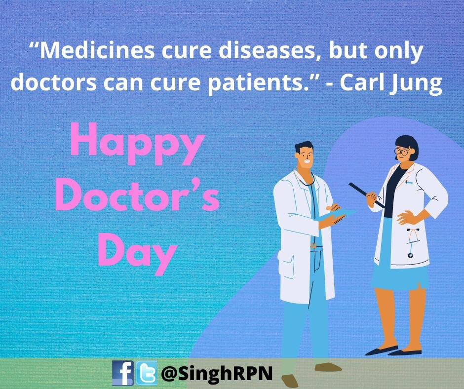 To all the wonderful doctors who have been lifesavers for my family and me in various tough times & to those working tirelessly for crores of Indians every day. Heartfelt Thanks