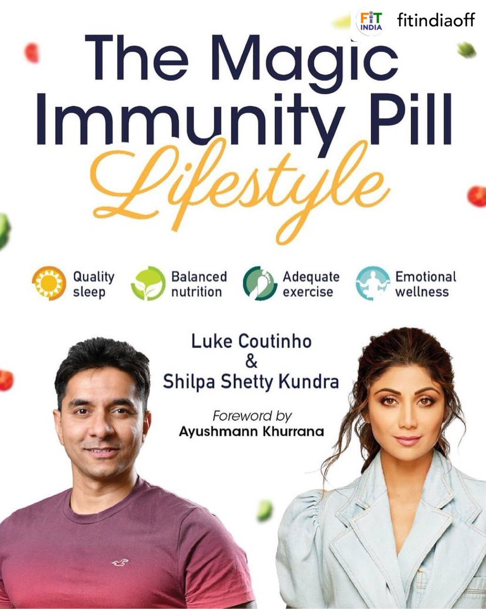 E- book - The Magic Immunity Pill- Lifestyle, by actress & wellness enthusiast, @TheShilpaShetty & nutritionist @LukeCoutinho17, is out today. Free PDF: bit.ly/3duEXzq Shilpa & Luke bring easy remedies to stay strong & healthy in these times.