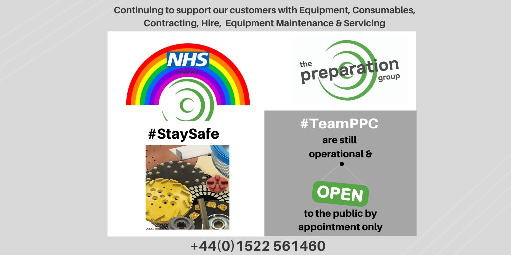 Business is as normal as possible here at #TeamPPC, whilst sticking to the strict Social Distancing Measures set by the government of course! Need any equipment or consumables? 👀 Call our Sales team today 📲 +44(0)1522 561460 https://t.co/9I6YrAgGzh