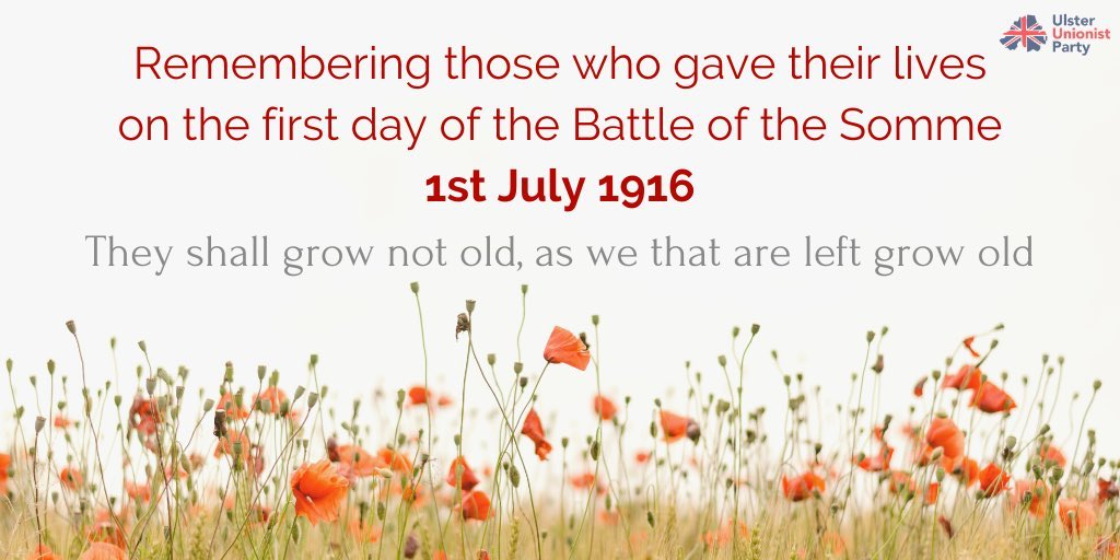 'The leading battalions (of the 36th (Ulster) Division) had been ordered out from the wood just before 7.30am and laid down near the German trenches ... At zero hour the barrage lifted. Bugles blew the Advance. Up sprang the Ulstermen' #LestWeForget @uuponline @PoppyLegion