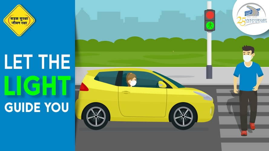 The traffic light is your best guide on the road. Stop if you see red, and go if you see green. Keep road safety your top priority and not a choice! #NHAI #RoadSafety #DriveSafe https://t.co/hDUFCQXuWQ