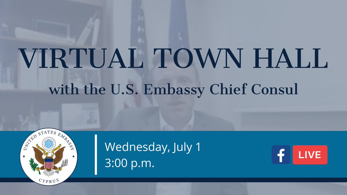 Today at 3 p.m. on our Facebook page: https://t.co/Azbh67K59F, our Chief Consul will be taking questions about visas, travel, and U.S. citizen questions. https://t.co/iG6hcyLANZ