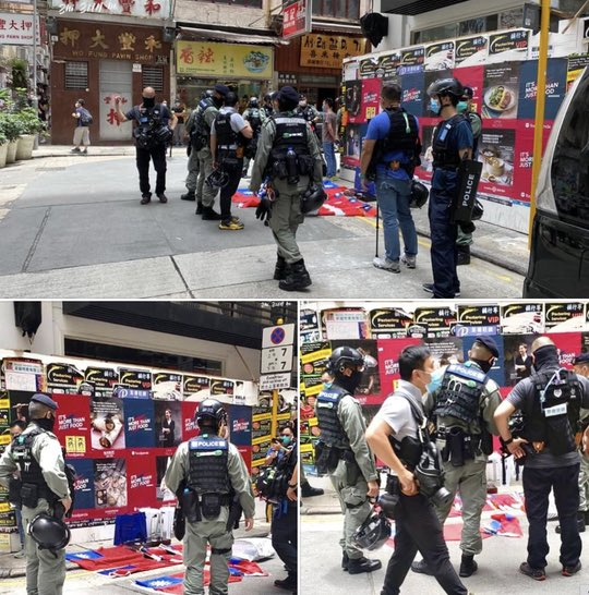"A man is arrested because he carried some Taiwan National flags.   As #CCP says ""Taiwan is a part of China.""   I'm wondering how is he break the Nation Security Law?? #CCP_is_terrorist #hongkongprotest <br>http://pic.twitter.com/ArRmc5Eyto"