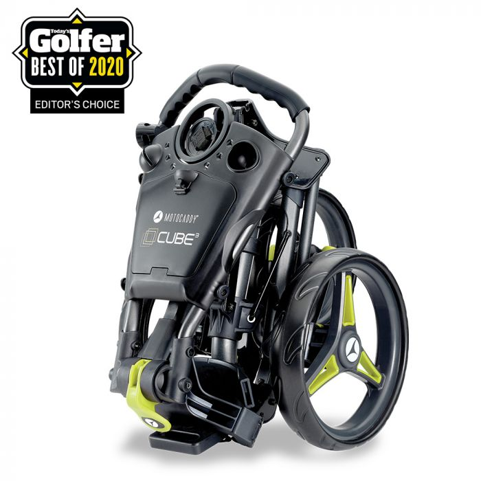Compact & easy‑to‑fold, the award-winning CUBE push cart is packed with features including extensive storage, easy push oversize wheels, an adjustable handle height & foot parking brake. Learn more 👉 ow.ly/Rn0D50Ab6Og #cube #pushcart #motocaddy