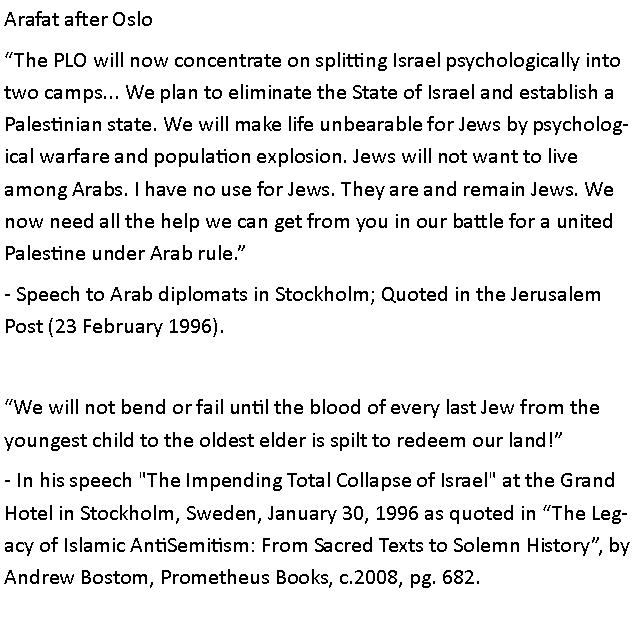 Arafat AFTER Oslo - the 'peace' partner in Arabic to an Arab audience: pic.twitter.com/ryFoNICkYs