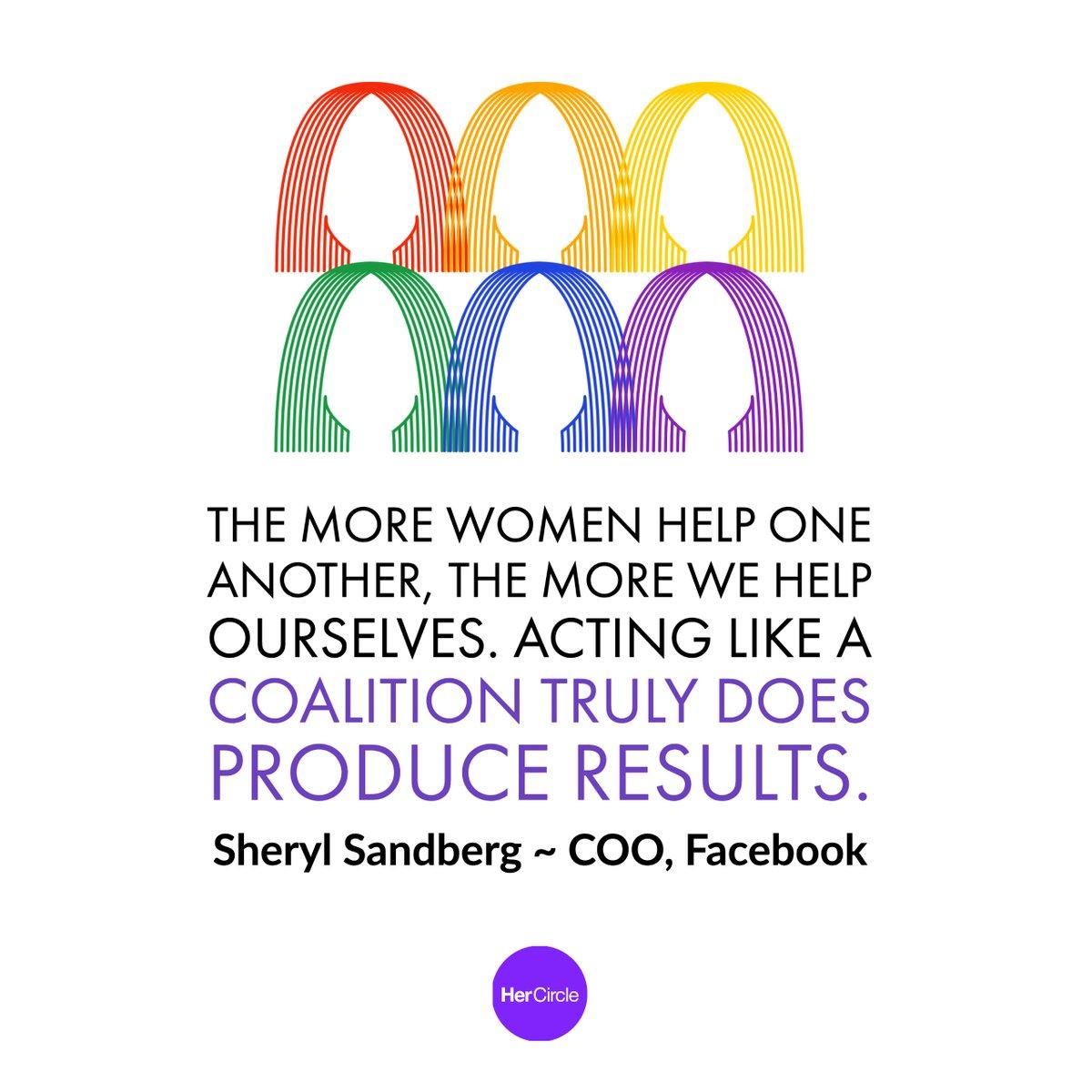 Acting like a coalition truly does produce results. 💜@sherylsandberg - #wednesdaywisdom #wednesdaymotivation #wednesdayvibes #HerCircle #womeninbusiness #womenintech #femalefounders #women #Hustle #WomenEmpowerment #womenleaders #FemaleFounders #GirlBoss #TheFutureIsFemale #She