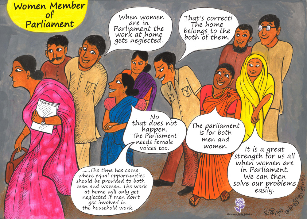 RT @womenandmedia: Sybil Wettasinghe illustrations on women's political representation. #srilanka https://t.co/FCy0vefgA1