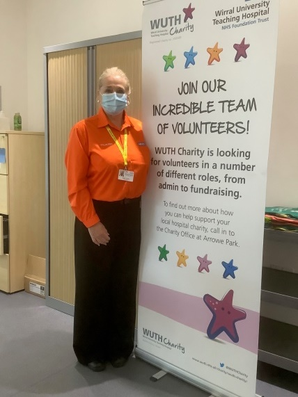Twitter You'll see volunteer Carol greeting people at our main entrance, 'doing her bit during the COVID-10 pandemic'. Carol, who is currently furloughed, said she is enjoying working with a good group of people and plans to continue volunteering here after returning to work.