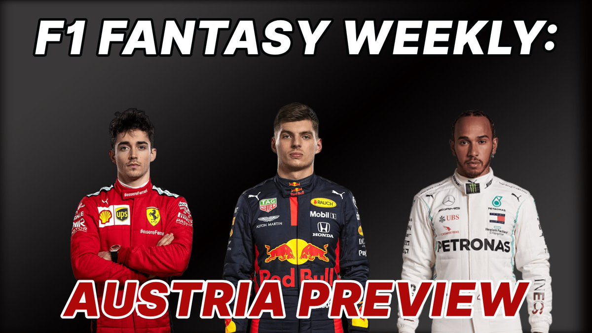 Hi guys!  Its Wednesday which means its F1 Fantasy Weekly day! Join me and @F1FanaticsSteve at 6pm UK time for the Austrian GP Fantasy Preview! #F1 #AustrianGP #F1Fantasy https://t.co/D6eU4LWWea