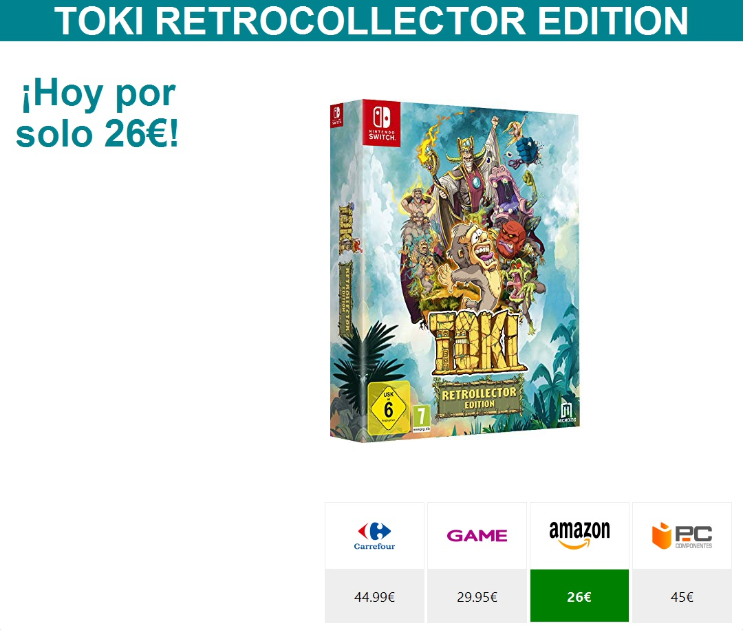 Toki Retrocollector Editionhttps://bit.ly/2zQg7f6  * HOY POR SOLO 26 €*pic.twitter.com/hpZE0e5S0f