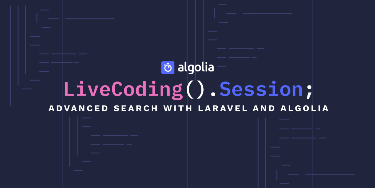 Going to make a Livestream TOMORROW about advanced search with @laravelphp and @algolia.🗓 Tue, Jul 7 - 9:00 AM EST / 3:00 PM CEST 🔔 Subscribe and enable notifications: https://t.co/BmUuFaY1iJ. https://t.co/AA6zsmqkSt