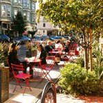 Image for the Tweet beginning: Parklets everywhere for London cafes