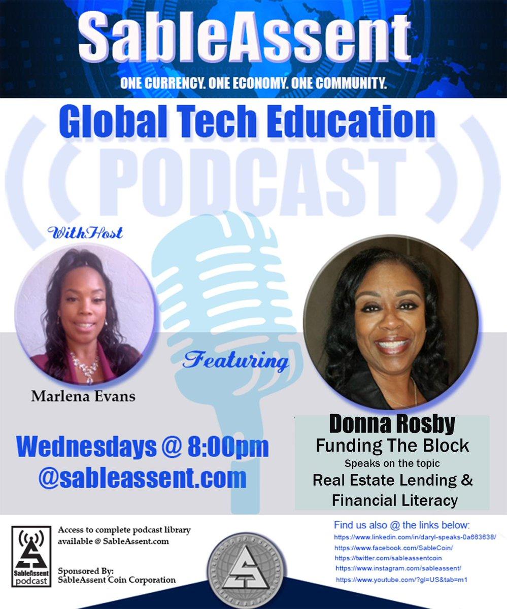 SableAssent Tech Education Podcast Every week teaching The Power of Global Empowerment with SAC1 and the SAC Wallet Ecosystem. Tonight 8 p.m. @sableassent.com #sableassent #sac1 #sablecoin #sacwallet #webuyblack #bahamas #Haiti #jamaica #dubai #dc #detroit @oneunited #uk #atlpic.twitter.com/yu1qsrl13J