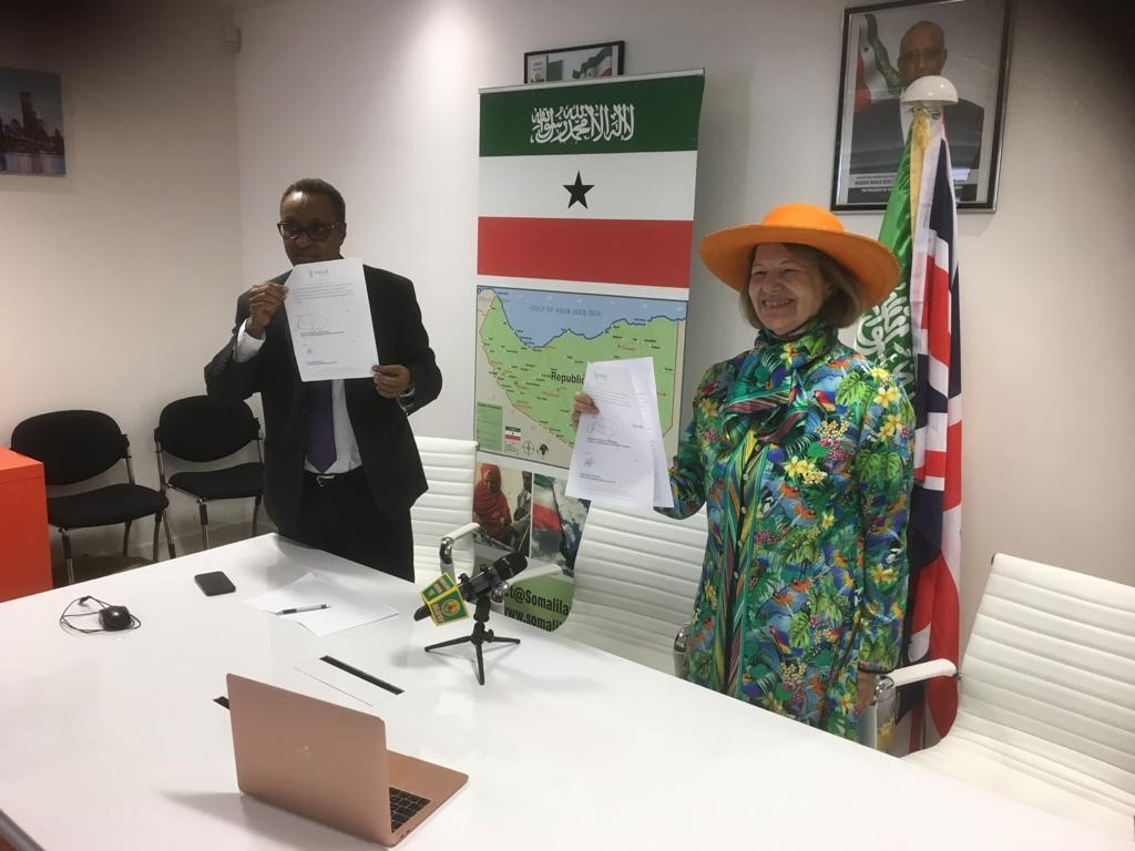 test Twitter Media - BNOW and H.E. Abdi A Hersi, Rep of Somaliland Mission to the UK, sign an MoU for AMAR to provide Mobile Health Laboratories for Somaliland https://t.co/FYm15rAAJG