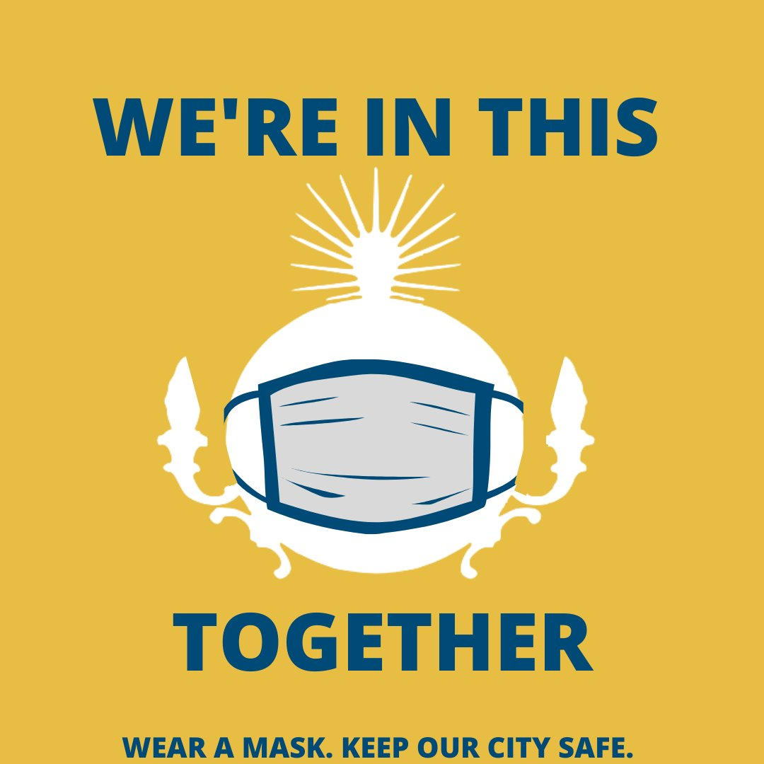 We're counting on each other to keep our community safe. Please continue to wear masks and practice social distancing as we reopen our City. https://t.co/kM8iv1ciSi