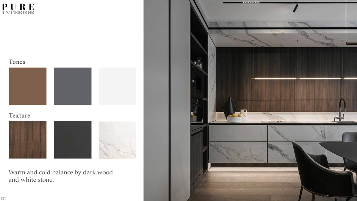 Warm and cold balance by dark wood and white stone. #interiordesign #interiorspic.twitter.com/bcQBHJzNcI