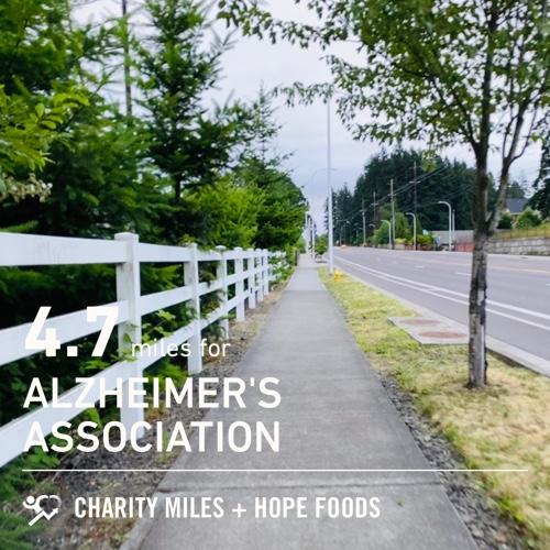4.7 @CharityMiles for @alzassociation. Thx @HopeHummus for sponsoring me! #SpreadHope<br>http://pic.twitter.com/Nuw9Hg729u